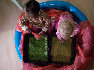 Sensory play allows children to experience different textures