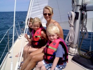Carrie Kerr and her children