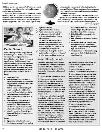 Public School sidebar